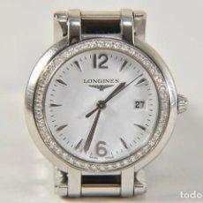 Relojes - Longines: LONGINES PRIMALUNA QUARTZ DIAMANTES BISEL ACERO L8.112.0.16.6 30MM. . Lote 193189355