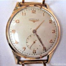 Relojes - Longines: RELOJ LONGINES PARA HOMBRE DEL AÑO 1952. DE ORO Y PULSERA DE ORO. 18 KILATES. CUÑOS... Lote 193443063