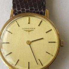 Relojes - Longines: RELOJ DE OMBRE LONGINES CAJA DE ORO MACIZO DE LEY 18 K 0.750. Lote 196228482