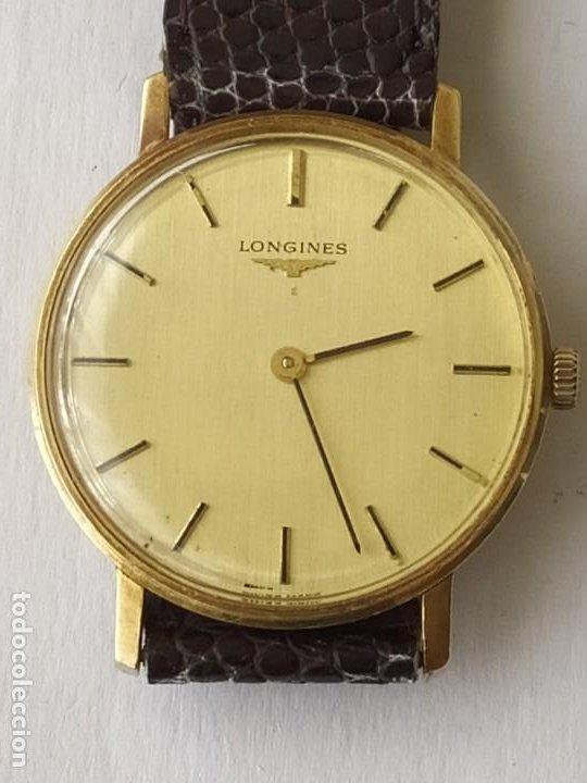 Relojes - Longines: RELOJ LONGINES CAJA DE ORO MACIZO DE LEY 18 K 0.750 - Foto 2 - 196228482