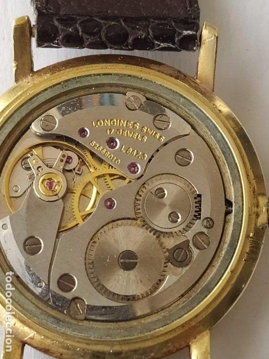 Relojes - Longines: RELOJ LONGINES CAJA DE ORO MACIZO DE LEY 18 K 0.750 - Foto 6 - 196228482