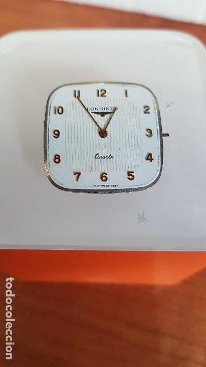 MAQUINA COMPLETA LONGINES DE CUARZO CALIBRE LONGINES 150.2, ESFERA ORIGINAL BLANCA, AGUJAS DORADAS. (Relojes - Relojes Actuales - Longines)