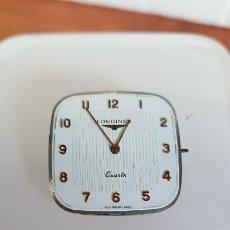 Relojes - Longines: MAQUINA COMPLETA LONGINES DE CUARZO CALIBRE LONGINES 150.2, ESFERA ORIGINAL BLANCA, AGUJAS DORADAS. . Lote 199355421