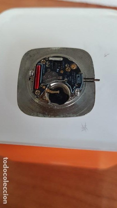 Relojes - Longines: Maquina completa LONGINES de cuarzo calibre Longines 150.2, esfera original blanca, agujas doradas. - Foto 2 - 199355421