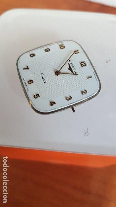 Relojes - Longines: Maquina completa LONGINES de cuarzo calibre Longines 150.2, esfera original blanca, agujas doradas. - Foto 7 - 199355421
