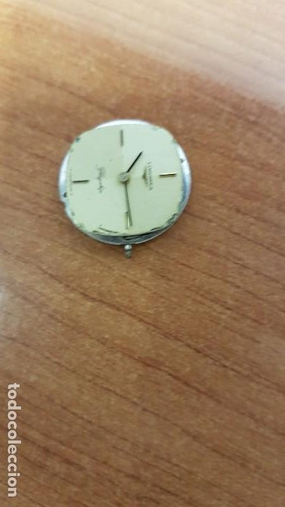 Relojes - Longines: Maquina completa LONGINES, cuerda calibre Longines L 847.4, esfera original en blanca, agujas negras - Foto 3 - 199465023