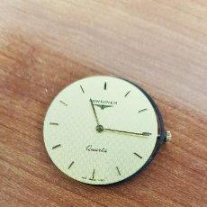 Relojes - Longines: MÁQUINA DE RELOJ LONGINES CUARZO, CALIBRE ETA. 256.031, ESFERA COLOR CHAMPAN Y AGUJAS ORIGINALES. . Lote 199579123