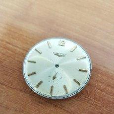 Relojes - Longines: MAQUINA COMPLETA LONGINES, CUERDA CALIBRE LONGINES 232, ESFERA ORIGINAL EN BLANCA, SIN AGUJAS . Lote 199627973