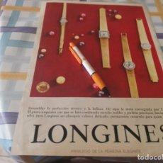 Relojes - Longines: RELOJ LONGINES ANUNCIO PUBLICIDAD REVISTA 1967. Lote 210137375