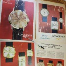 Relojes - Longines: LONGINES, PRIVILEGIO DE LA PERSONA ELEGANTE. 10 ANUNCIOS.. Lote 151022641