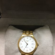 Relógios - Longines: RELOJ LONGINES CONQUEST QUARTZ CHAPADO ORO HOMBRE EN SU CAJA. Lote 216364892
