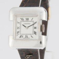 Relojes - Longines: LONGINES SERGE MANZON 5003 LADIES SILVER 925 - CALIBER 5601. Lote 217487880