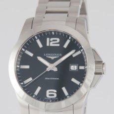 Relojes - Longines: LONGINES CONQUEST QUARTZ STEEL 41MM L3.659.4.58.6. Lote 217488067