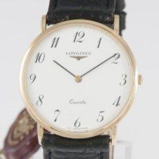 Relojes - Longines: LONGINES QUARTZ YELLOW GOLD 18K 32MM L4.636.2.13.2. Lote 218589048