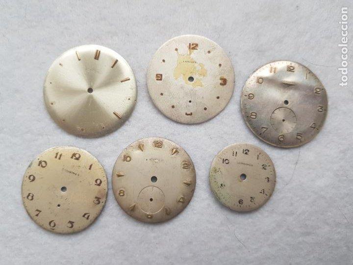 LOTE DE 6 ESFERAS LONGINES RELOJES PULSERA 25 A 35 MM D17 (Relojes - Relojes Actuales - Longines)