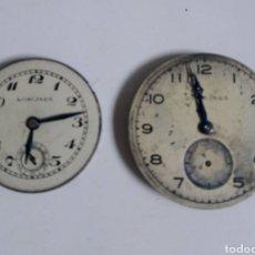Relojes - Longines: DOS MÁQUINAS LONGINES PARA RECAMBIOS. Lote 221822035