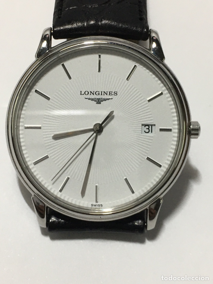 RELOJ LONGINES LES GRANDES CLASIQUES QUARTZ CAJA DE ACERO Y CORREA ORIGINAL DE PIEL (Relojes - Relojes Actuales - Longines)