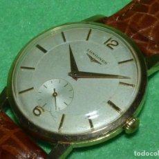 Relojes - Longines: PRECIOSO LONGINES CALIBRE 12.68Z CARGA MANUAL 17 RUBIS GRANDE AÑOS 50. Lote 222578988