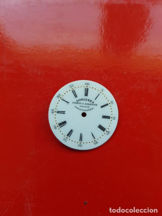 Relojes - Longines: LONGINES DE CUERVO Y SOBRINOS UNICOS IMPORTADORES ESMALTE PERFECTO ESTADO - Foto 2 - 225303775