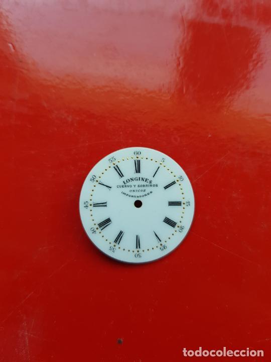 Relojes - Longines: LONGINES DE CUERVO Y SOBRINOS UNICOS IMPORTADORES ESMALTE PERFECTO ESTADO - Foto 3 - 225303775