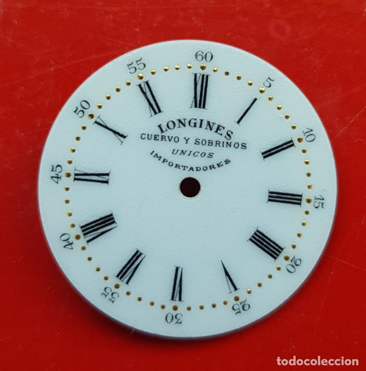 LONGINES DE CUERVO Y SOBRINOS UNICOS IMPORTADORES ESMALTE PERFECTO ESTADO (Relojes - Relojes Actuales - Longines)
