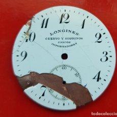 Relojes - Longines: LONGINES DE CUERVO Y SOBRINOS UNICOS IMPORTADORES HABANA 39MM. Lote 225304095