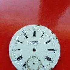 Relojes - Longines: ESFERA LONGINES DE LUCIANO VITTONI RIVADAVIA 40MM RELOJ BOLSILLO. Lote 225304755