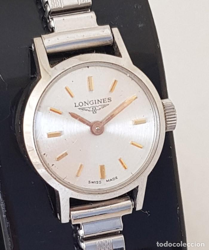 Relojes - Longines: LONGINES MECANICO DE DAMA TIPO COCKTAIL ACERO CORREA FIXOFLEX FUNCIONANDO CASI ESTRENO - Foto 15 - 234959590