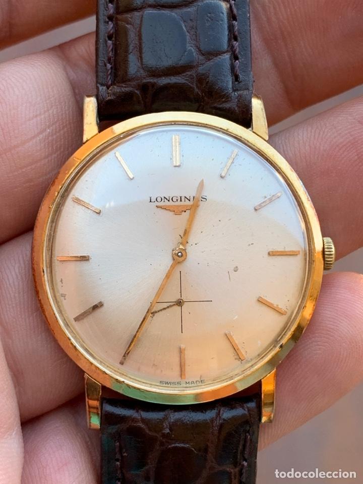 Relojes - Longines: Longines vintage 1965 cuerda manual oro para hombre funcionando - Foto 4 - 274125028