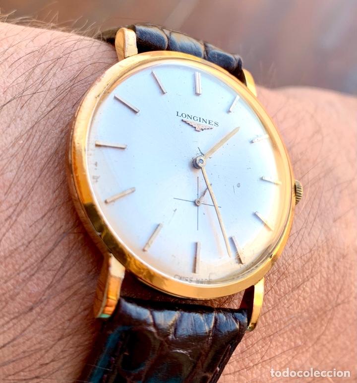 LONGINES VINTAGE 1965 CUERDA MANUAL ORO PARA HOMBRE FUNCIONANDO (Relojes - Relojes Actuales - Longines)