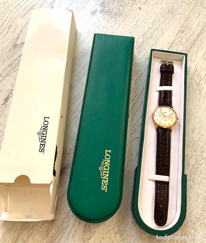 Relojes - Longines: Longines vintage 1965 cuerda manual oro para hombre funcionando - Foto 2 - 274125028