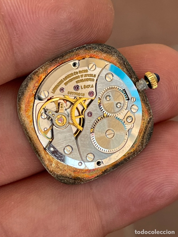Relojes - Longines: Movimiento reloj Longines cal. L 847.4 carga manual funcionando - Foto 3 - 278417298