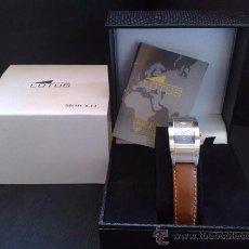 Relojes - Lotus: RELOJ LOTUS CORREA CUERO MARRON CON CAJA ORIGINAL. Lote 21105475