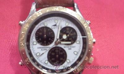 BONITO RELOJ LOTUS DE CABALLERO,MODELO LOTUS 9475,CORREA DE CUERO,ESFERA BLANCA. (Relojes - Relojes Actuales - Lotus)