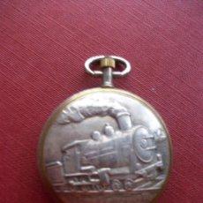 Relojes - Lotus: RELOJ DE BOLSILLO MARCA LOTUS . BONITO RELIEVE DE UN TREN. Lote 37017810