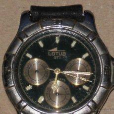 Relojes - Lotus: RELOJ LOTUS MODELO GTI , ESFERA CALENDARIO , DIA DE LA SEMANA Y USO HORARIO . FALTA HACERLE LIMPIEZA. Lote 40713512