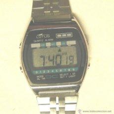 Relojes - Lotus: LOTUS QUARZ ALARM VINTAGE, A ESTRENAR RESTO RELOJERIA, PILA NUEVA, AÑOS 80. MED. 3,50 X 3,50 CM. Lote 43899222