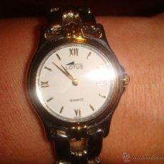 Relojes - Lotus: PRECIOSO RELOJ DE SEÑORA MARCA LOTUS. CON BAÑO DE ORO. CON CALENDARIO. RESISTENTE AL AGUA 5 ATMÓSFER. Lote 47351819