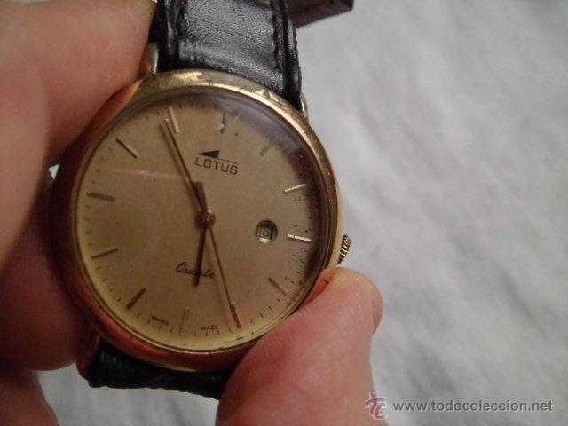 Relojes - Lotus: RELOJ LOTUS DE CUARZO CON CALENDARIO PARA PIEZAS NO FUNCIONA - Foto 4 - 48198178