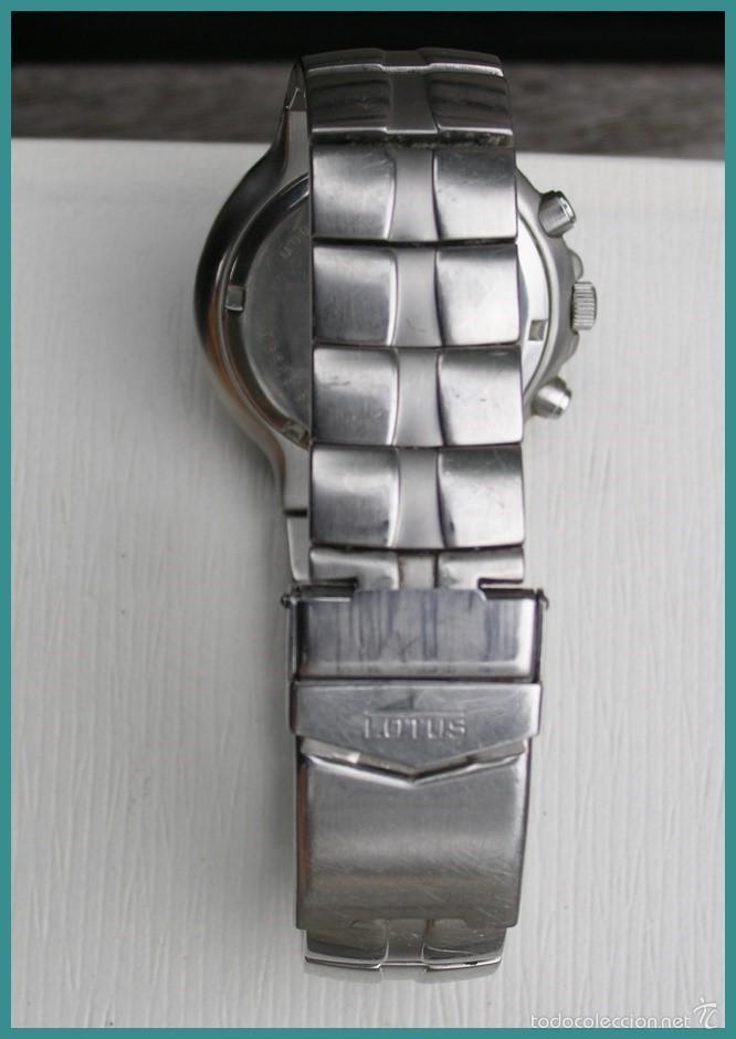 Relojes - Lotus: Reloj Quartz LOTUS...mod DEPOSE...alarma cronógrafo...water resistant 100M, a reparar - Foto 2 - 56154665