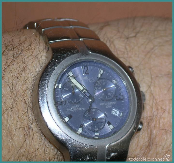 Relojes - Lotus: Reloj Quartz LOTUS...mod DEPOSE...alarma cronógrafo...water resistant 100M, a reparar - Foto 6 - 56154665