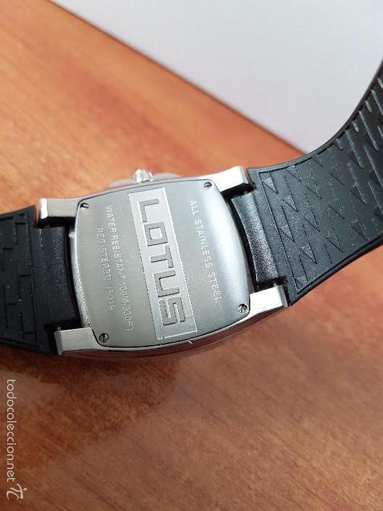 Relojes - Lotus: Reloj de caballero Lotus de cuarzo con calendario a las 6 horas 100m/330FT, con correa de silicona - Foto 3 - 59785908