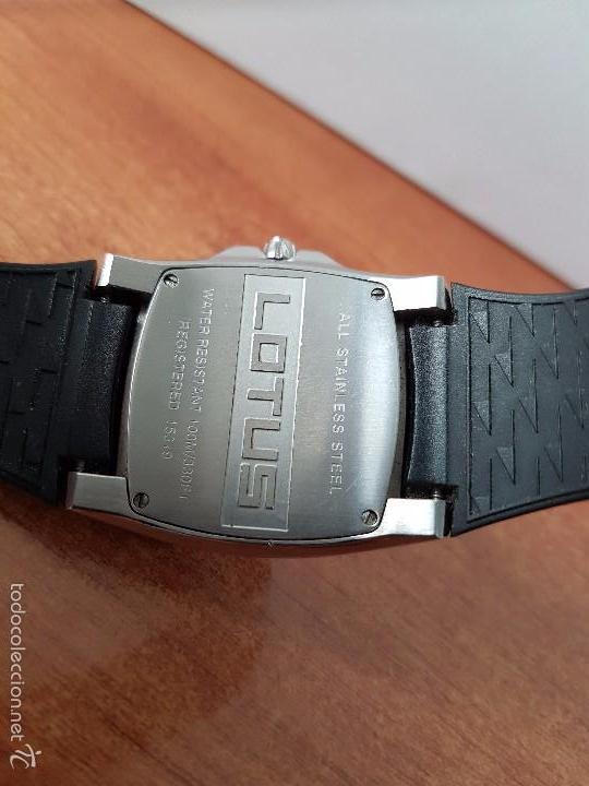 Relojes - Lotus: Reloj de caballero Lotus de cuarzo con calendario a las 6 horas 100m/330FT, con correa de silicona - Foto 5 - 59785908