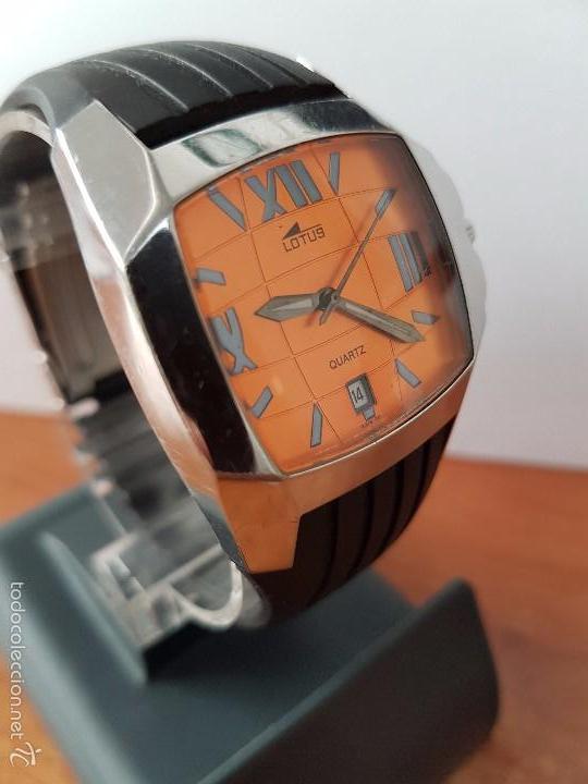 Relojes - Lotus: Reloj de caballero Lotus de cuarzo con calendario a las 6 horas 100m/330FT, con correa de silicona - Foto 6 - 59785908