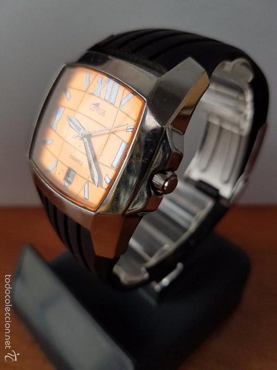 Relojes - Lotus: Reloj de caballero Lotus de cuarzo con calendario a las 6 horas 100m/330FT, con correa de silicona - Foto 9 - 59785908