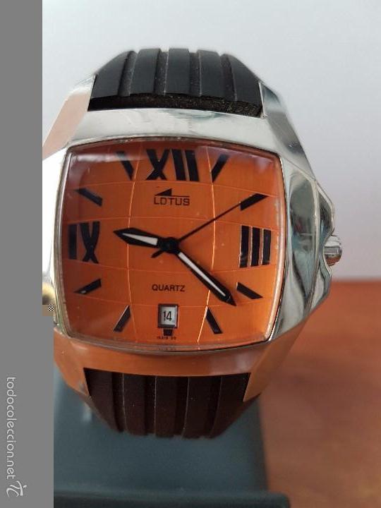 Relojes - Lotus: Reloj de caballero Lotus de cuarzo con calendario a las 6 horas 100m/330FT, con correa de silicona - Foto 10 - 59785908