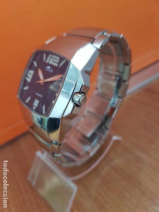 Relojes - Lotus: Reloj caballero de cuarzo LOTUS en acero con calendario a las seis horas, correa de acero original. - Foto 2 - 115488128