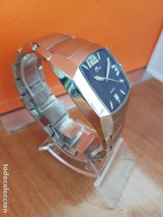 Relojes - Lotus: Reloj caballero de cuarzo LOTUS en acero con calendario a las seis horas, correa de acero original. - Foto 3 - 115488128