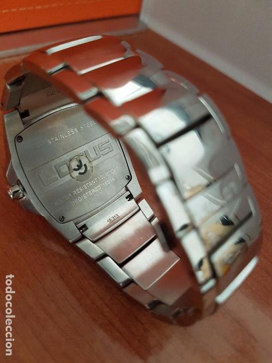 Relojes - Lotus: Reloj caballero de cuarzo LOTUS en acero con calendario a las seis horas, correa de acero original. - Foto 5 - 115488128