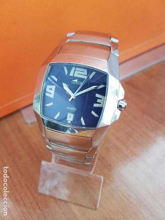 Relojes - Lotus: Reloj caballero de cuarzo LOTUS en acero con calendario a las seis horas, correa de acero original. - Foto 7 - 115488128